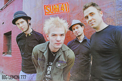 "SUM 41 Rock Band Music Paper Poster 23.4"" x 34.5"""