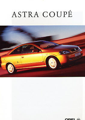 2000 Opel Astra Coupe German Prospekt Sales Brochure