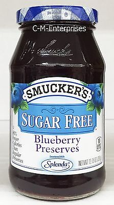 Smucker's Blueberry Sugar Free Preserves 12.75 oz Smuckers