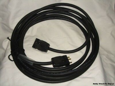5ft. Black SJOOW 20A Bates Stage Pin Extension Cord