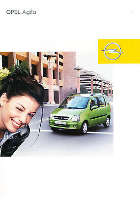 2002 Opel Agila German Prospekt Sales Brochure