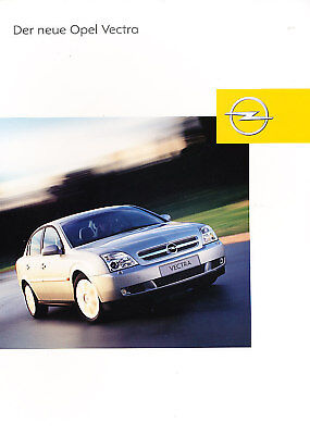 2002 Opel Vectra 5d German Prospekt Sales Brochure