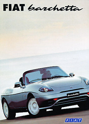 1998 Fiat Barchetta  German Prospekt Sales Brochure