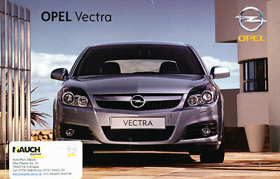 2007 Opel Vectra German Prospekt Sales Brochure OPC