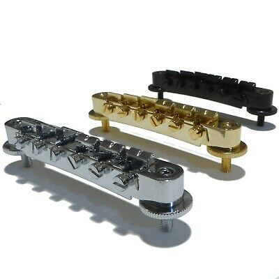 Electric guitar Tune-O-Matic bridge in Chrome, Black or Gold