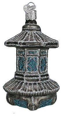 36141 Chinese Japanese Temple Lantern Old World Christmas Blown Glass Ornament