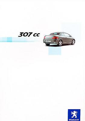 2003 Peugeot 307cc Dutch Sales Brochure