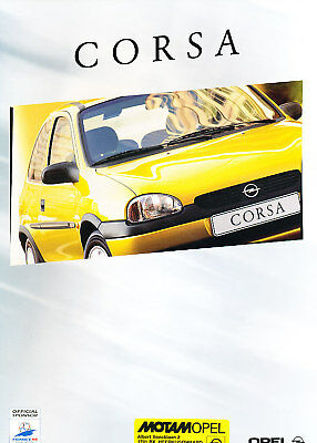 1998 Opel Corsa Original Dutch Sales Brochure 8/97