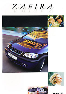 1999 Opel Zafira Original Dutch Sales Brochure