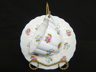 Fine Bone Shelley China England Floral Cup & Saucer