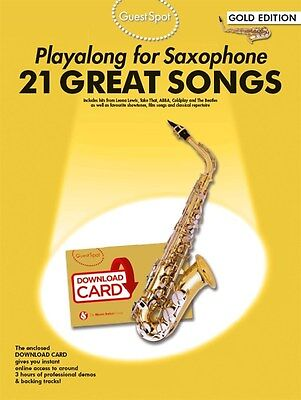 Learn To Play Great Songs Alto Saxophone Sax Sheet Music Book + Download Tracks