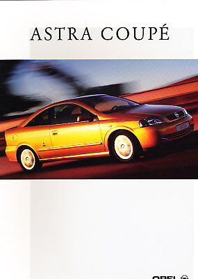 2000 Opel Astra Bertone Dutch Sales Brochure Coupe 5/00