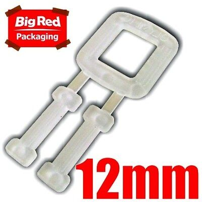 250 x 12mm Plastic Buckles for Poly Strapping Strap NEW