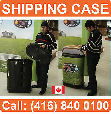 WHEELED HARD Trade Show Displays Banner Stands Pop Up Booth TRAVEL Carrying CASE