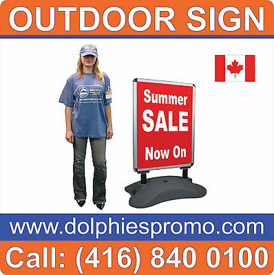 Outdoor DOUBLE SIDED Restaurant Sign Menu Banner Stand
