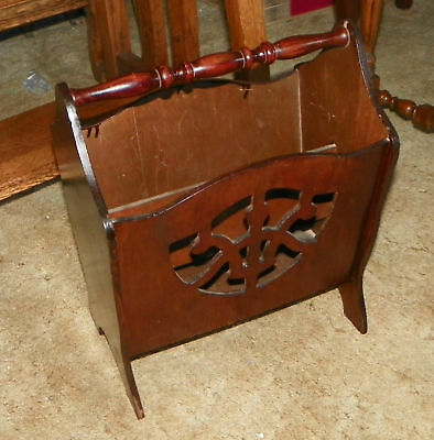 Small Mahogany Magazine Rack Stand  (HD42)