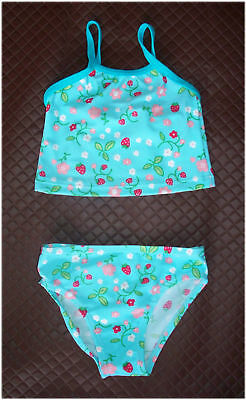 Baby Sz 12 or 18 mths - Cute 2 pc SWIMWEAR / BATHERS / TOGS Aqua Floral - NEW