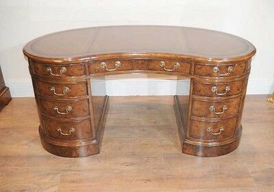 Walnut Victorian Kidney Desk Writing Table Desks Office