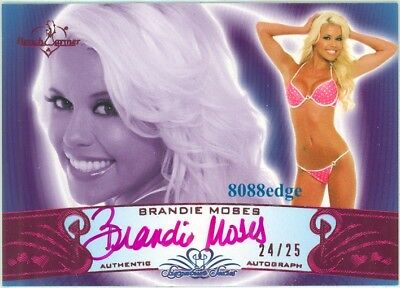 2010 Benchwarmer Pink Auto #19A: Brandie Moses #24/25 Autograph Signature Series