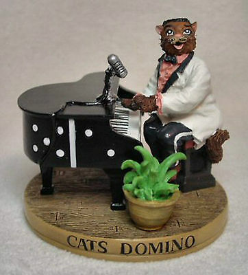 """THE CAT HALL OF FAME FIGURINE """"CATS DOMINO""""  by ERTL"""