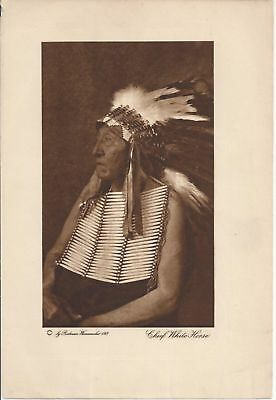Chief White Horse Wanamaker Vanishing Race Phot0Gravure