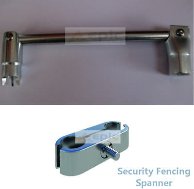 PRIORY 3 Prong Security Wire Site Fence//Fencing /& 7//16w Scaffold Spanner Tool