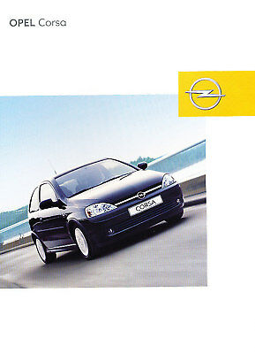 2002 Opel Corsa German Sales Brochure Prospekt
