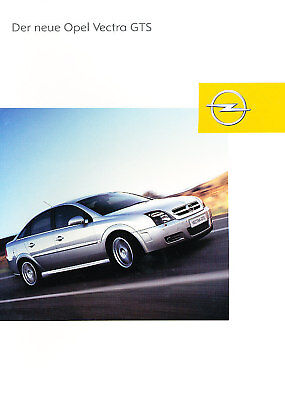 2003 Opel Vectra GTS German Sales Brochure Prospekt