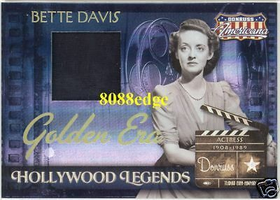 Donruss Americana Worn Dress Swatch: Bette Davis /50