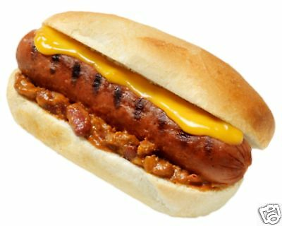 """Chili Dog Hot Dogs Decal 12"""" Concession Food Vendor"""