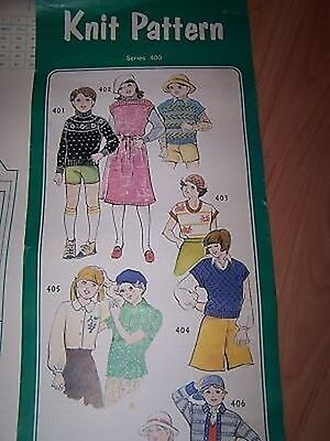 KNIT PATTERNS #400 for  SINGER KR6 & Series 300,500,560