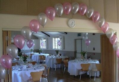 Wedding/ Party Balloon Arch & 12 Cluster Kit Package