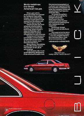 1986 Buick LeSabre Coupe Classic Advertisement Ad P81