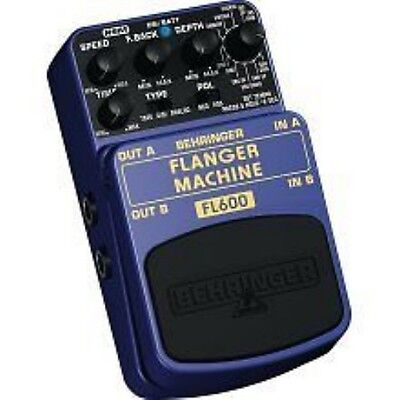 BEHRINGER FLANGER MACHINE guitar stomp effects pedal foot switch sound box amp