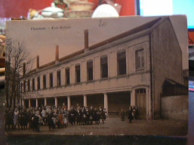 cpa 52 chaumont ecole michelet animee enfants