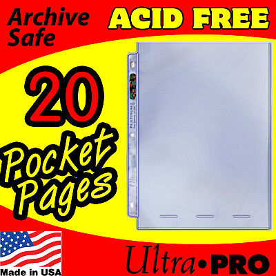 1 POCKET 8x10 PHOTO PAGES ULTRA PRO PLATINUM - 20 -
