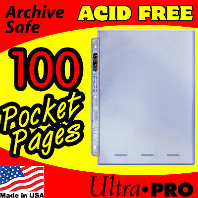 1 POCKET 8x10 PHOTO PAGES ULTRA PRO PLATINUM - 100 -