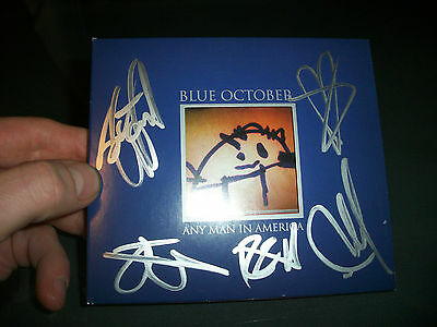 Blue October RARE Band Signed Cd Any Man In America Cd Justin Furstenfeld Photo