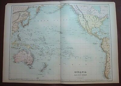 1867 Map of OCEANIA & PACIFIC OCEAN/Admiralty Surveys