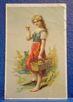 c1900 PEARLINE WASHING Trade Card/APPLES