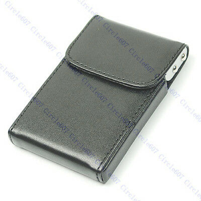 Name Credit Business Card B Upright Leather Holder Case