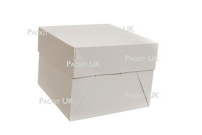 "White Cake Boxes 10"" x 10"" x 6"" Inch Wedding Birthday"
