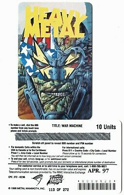 Heavy Metal War Machine Limited Phone card  of 272