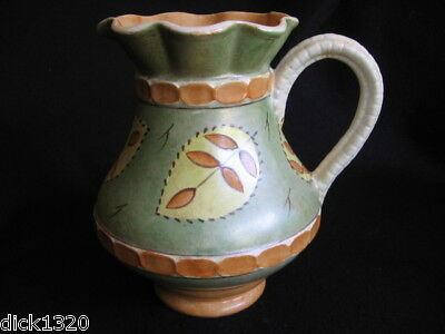 "ART DECO BURLEIGH HAND-PAINTED 8"" PITCHER c.1940's EX"