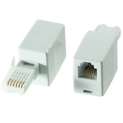 BT Plug to RJ11 Female Socket Crossover/Cross Adapter – Fax Modem Router Phone