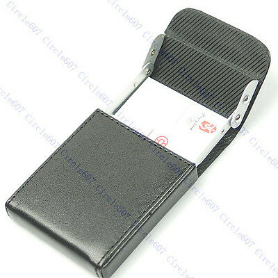 Card Case Holder B Upright Leather Name Credit Business