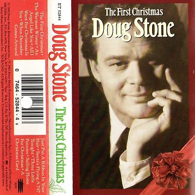 """DOUG STONE """"THE FIRST CHRISTMAS"""" CASSETTE 1992 epic"""