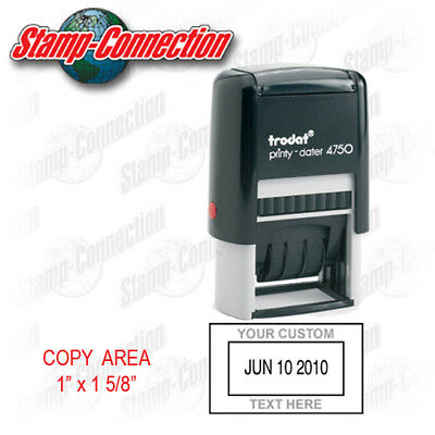 Trodat 4750 Date Stamp with Custom Text Self-Inking