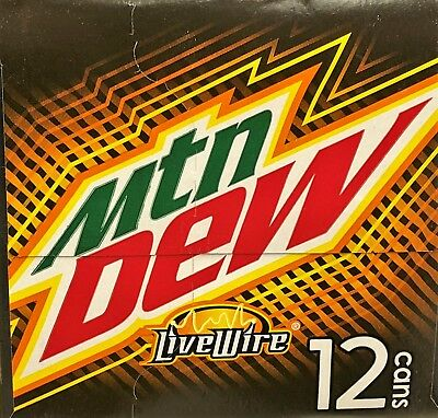 Mountain Dew LiveWire Soda 12 pack Mtn Dew