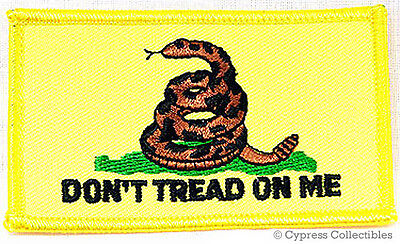 DON'T TREAD ON ME GADSDEN FLAG iron-on PATCH AMERICAN REVOLUTION embroidered NEW